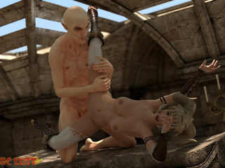 Disgusting 3D demon pounded a hot-shaped blonde - Picture 4