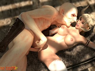 Disgusting 3D demon pounded a hot-shaped blonde - Picture 5