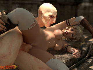 Disgusting 3D demon pounded a hot-shaped blonde - Picture 6