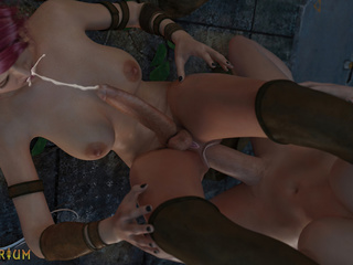 Elegant shemales are sucking in the 69 pose - Picture 4