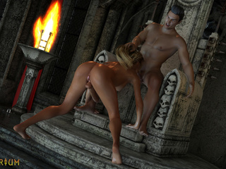 Two blondes traps and sex king bangs in the castle - Picture 3