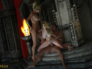 Two blondes traps and sex king bangs in the castle - Picture 5