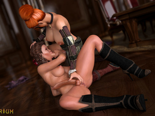Big-dicked shemales are enjoying hardcore anal sex - Picture 6