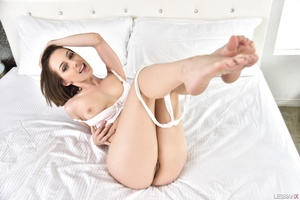 Golden blondie and adorable brunette gets naked - XXXonXXX - Pic 11