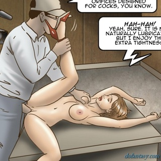 Brutal anal penetration of a big-boobed - BDSM Art Collection - Pic 3