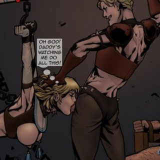 Obedient blonde gives a deep and good - BDSM Art Collection - Pic 2