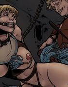 Big-boobed blonde enjoys hardcore penetration. Siege of Mesta 2 By Comixcheff