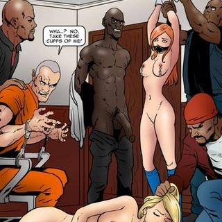 Intensive interracial face-fucking - BDSM Art Collection - Pic 2