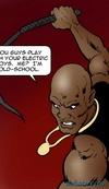 Black dude is torturing a helpless blonde. Dark Vengeance By Fernando