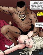 Black fucker nailed a helpless big-boobed blonde. Dark Vengeance By Fernando