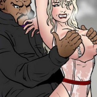 Big-tit blonde and massive horny black - BDSM Art Collection - Pic 1
