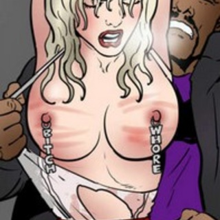 Big-tit blonde and massive horny black - BDSM Art Collection - Pic 3