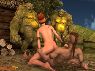Dirty green giants fucks a sex addicted redhead pixie - Picture 2