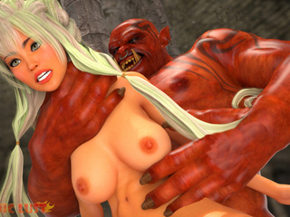 Big boobed 3D queen is trying dirty satanic sex - Picture 3