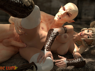 Filthy 3D demon treats a sensual big boobed blonde - Picture 6