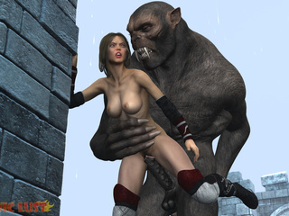 Busty brunette gets hardly impaled by monstrous - Picture 4