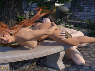 Redhead trap is trying anal sex with a knight - Picture 5