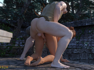 Redhead trap is trying anal sex with a knight - Picture 6