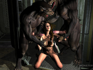 Hardcore beasts nailed a slutty babe in the dungeon - Picture 1