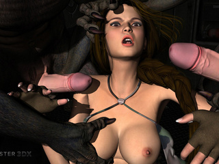 Hardcore beasts nailed a slutty babe in the dungeon - Picture 2