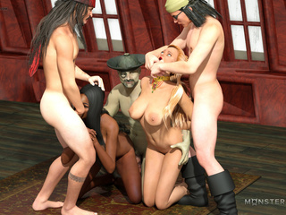 Busty interracial sluts nailed hard in the castle - Picture 3