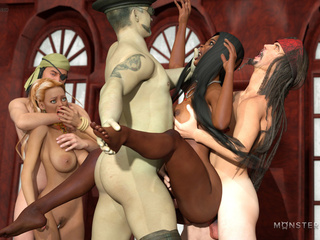 Busty interracial sluts nailed hard in the castle - Picture 4