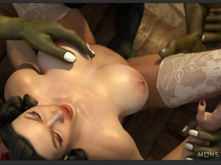 Busty sex queen nailed by the most disgusting green - Picture 2