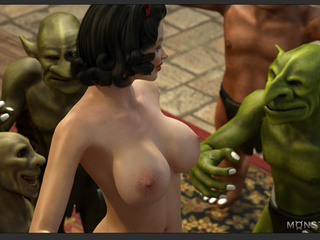 Busty sex queen nailed by the most disgusting green - Picture 4