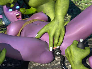 Purple pixie have nasty group sex with green - Picture 3