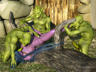 Purple pixie have nasty group sex with green - Picture 4