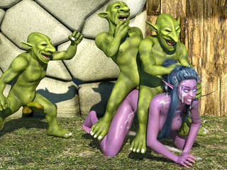 Purple pixie have nasty group sex with green - Picture 6