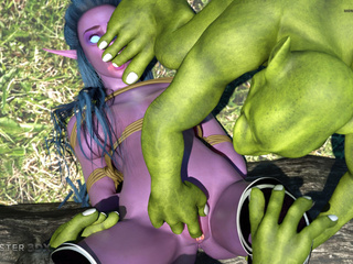 Brutal 3D sex in the forest with a slutty pixie - Picture 3