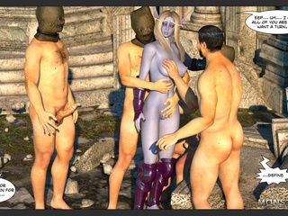Godlike pixie with purple skin gets gangbanged - Picture 1
