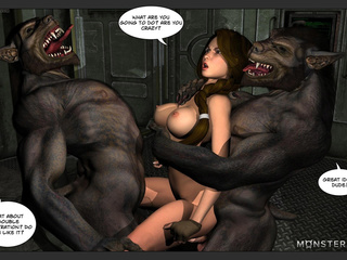 Insanely brutal 3D banging with wolfs and a goddess - Picture 5
