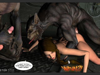 Insanely brutal 3D banging with wolfs and a goddess - Picture 6