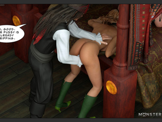 Brutal sex on the ship with the hottest 3D babes - Picture 1