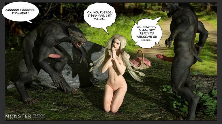 Black demons with giant dicks bangs a blonde - Picture 3