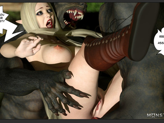 Black demons with giant dicks bangs a blonde - Picture 4