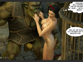 Giant muscled beast cums on the big boobs of a - Picture 1