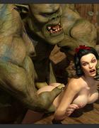 First-class brunette enjoys nasty 3D sex with a demon