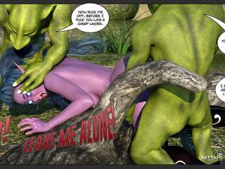Hot as hell pixie enjoys dirty sex with green demons - Picture 3