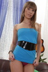 blue dress blonde with