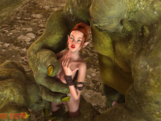 Gigantic 3D giants fucks a redhead sex queen - Picture 2
