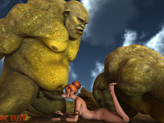 Gigantic 3D giants fucks a redhead sex queen - Picture 3