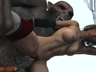 Insane 3D gorilla cums on the hottest princess - Picture 4