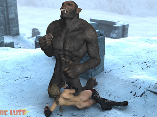 Insane 3D gorilla cums on the hottest princess - Picture 5