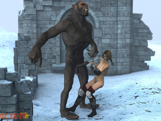 Insane 3D gorilla cums on the hottest princess - Picture 6