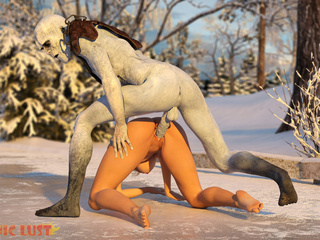 Brutal and disgusting sex on the snow with a monster - Picture 4