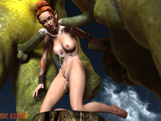 Incredibly hardcore 3D sex with gigantic beasts - Picture 3