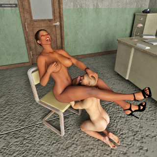 Scrubby dude gets hardly nailed by a big 3D trap - Picture 6